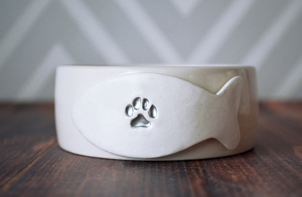 Extra Small Cat Bowl, Kitten Bowl, Personalized Cat Bowl, Cat Food Dish, Cat Water Bowl - With Name or Paw Print - Ceramic