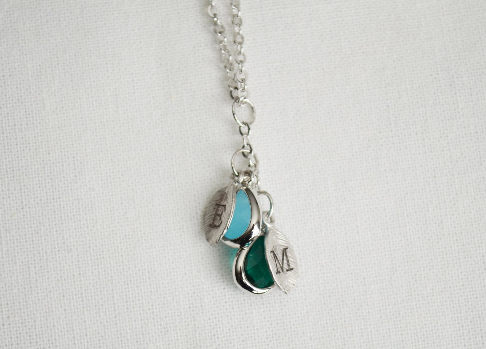 Personalized mom necklace with birthstone initial necklace birthday gifts for mom gift for grandma necklace custom family tree necklace mom