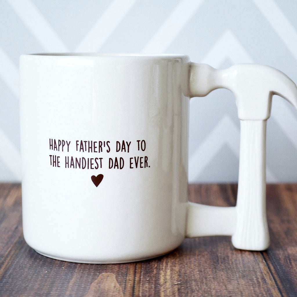 Father's Day Gift, Father's Day Mug, Funny Dad Gift, Dad Gift Idea - Jumbo Coffee Mug - Happy Father's Day to the Handiest Dad Ever.
