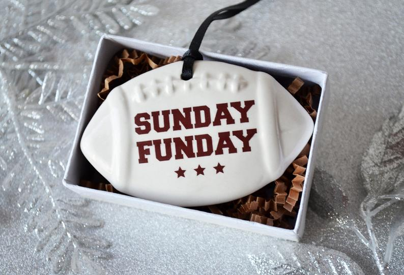 Football Ornament, Sunday Funday, Football Christmas Gift, For Football Player, Sports Ornament