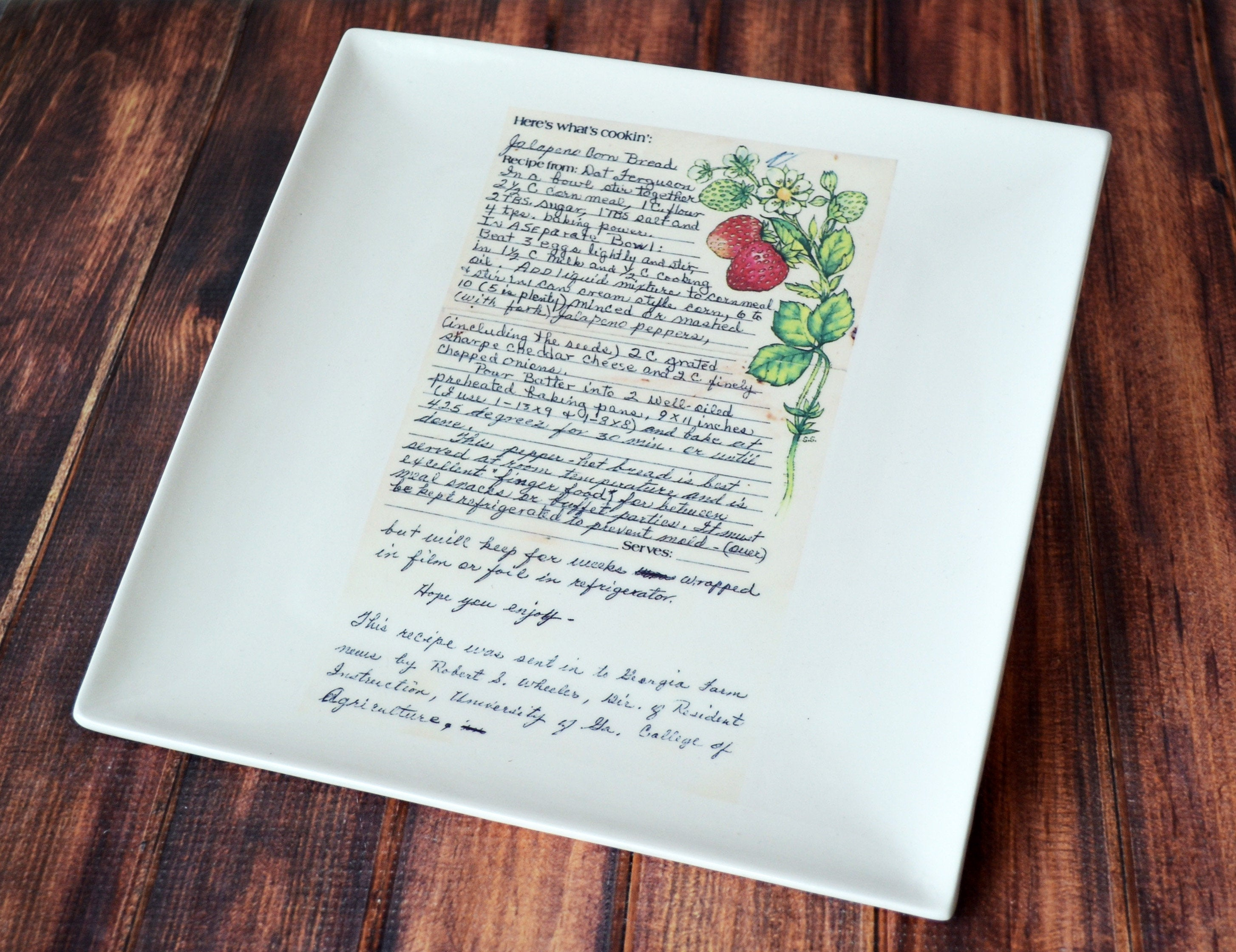 Gift For Mom Recipe Plate Birthday Family Susabella