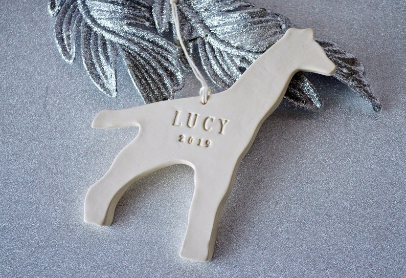 Giraffe Ornament, Personalized Baby's First Christmas Ornament, Kids Ornament, Baby's 1st ornament