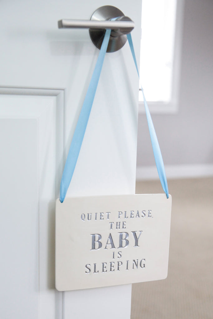 Quite Please, The Baby is Sleeping Sign - New Baby Gift, Newborn Gift or Baby Shower Gift
