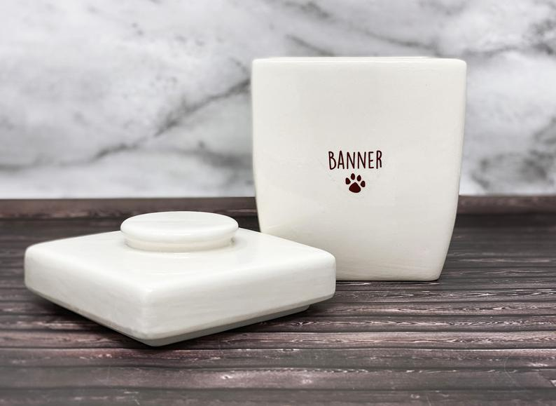 Large Personalized Dog Treat Jar, Dog Gift, Puppy Gift, Dog Lover Gift, Treat Jar with Name or Logo