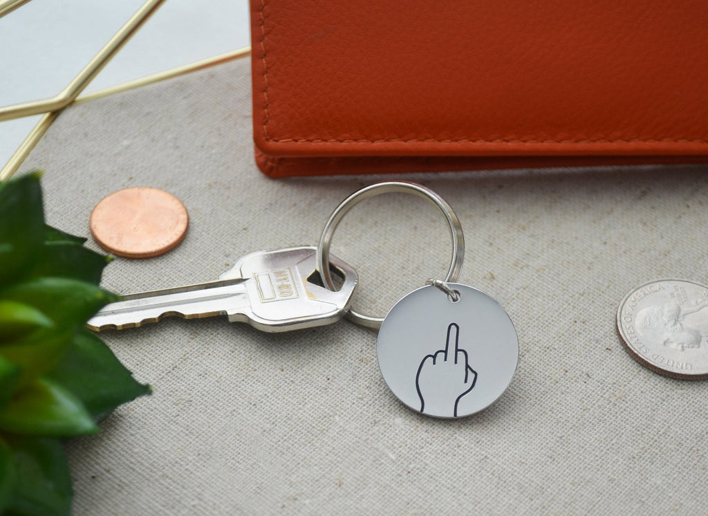Middle Finger Keychain, 2020 Gift, COVID Gift, Hand Gestures Keyring, Friend Gift, Key Holder, Available in other Gestures