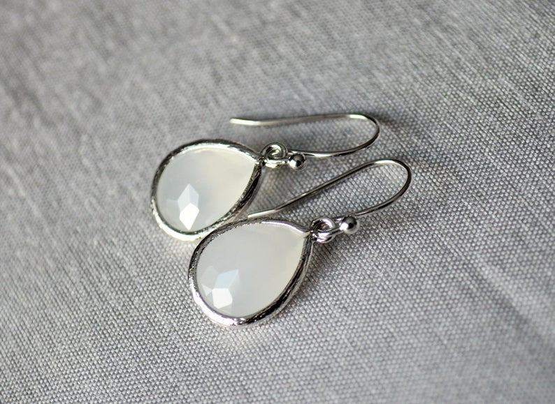 Moonstone earrings, June Birthstone Gift, June Birthstone earrings, Bridesmaid earrings, June Birthday Gift for Her, Tear Drop Earrings