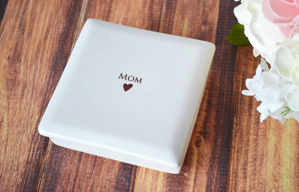 Mother of the Bride Gift or Mother of the Groom Gift - SHIPS FAST - MOM Square Keepsake Box