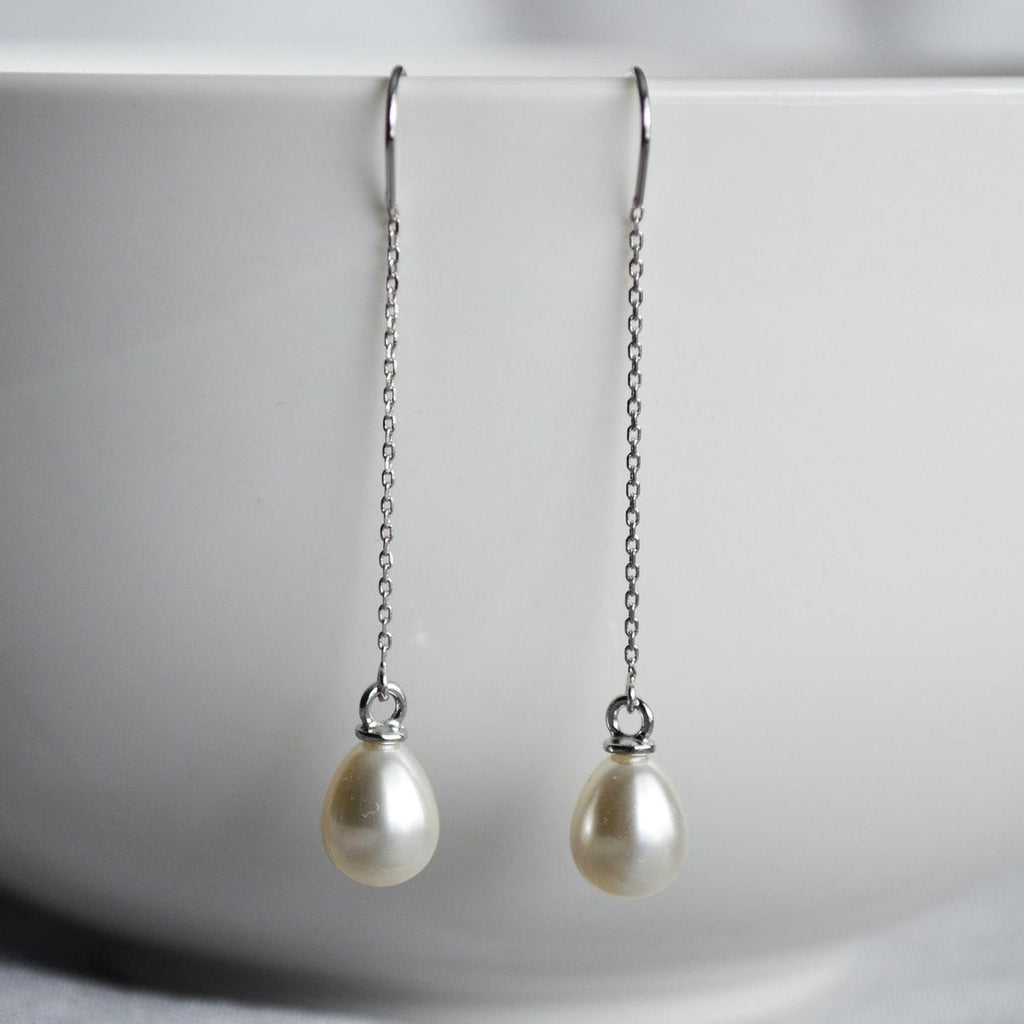 Pearl Earrings, June Birthstone Gift, June Birthstone Earrings, Bridesmaid Earrings, Pearl Drop Earrings