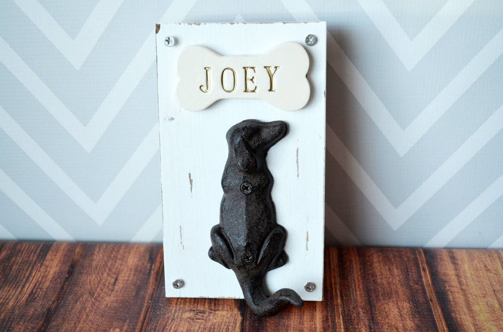 Personalized Dog Leash Hanger, Dog Leash Hook, Dog Gift Personalized with Name