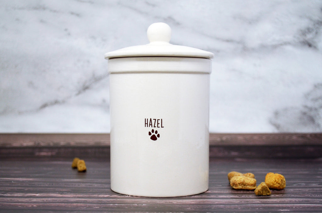Personalized Dog Treat Jar, Dog Gift, Puppy Gift, Dog Lover Gift, Treat Jar with Name