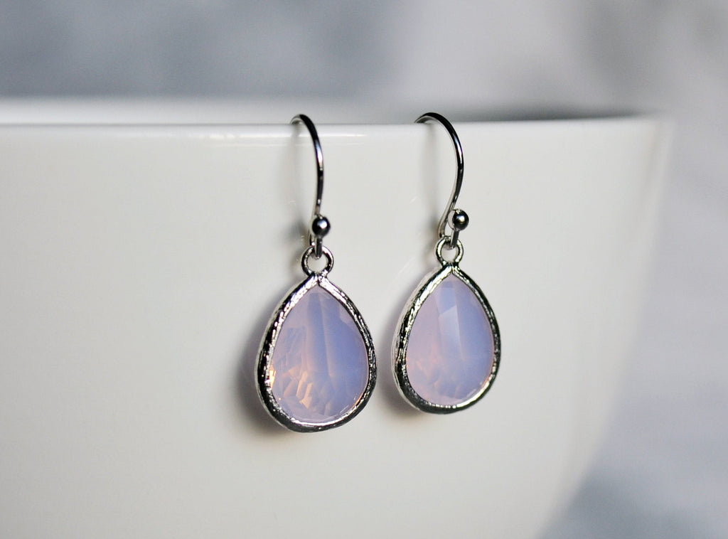 Pink Opal earrings, October Birthstone Gift, October Birthstone earrings, Bridesmaid earrings, October Birthday Gift for Her