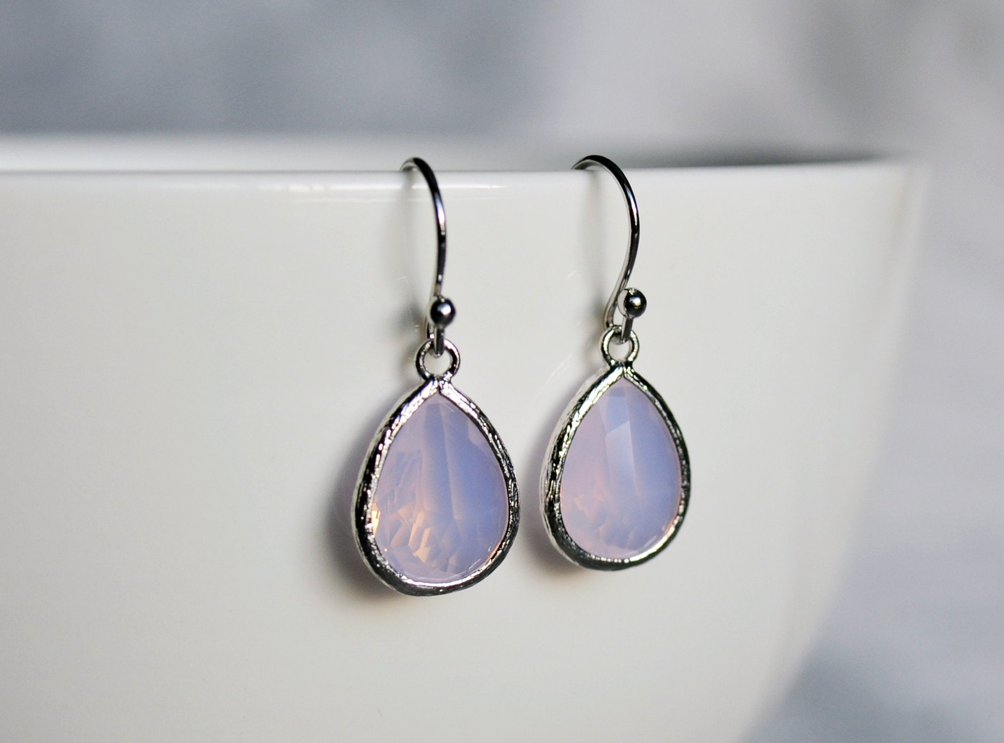 October Birthday Gift for Her Pink Opal earrings October Birthstone Gift Bridesmaid earrings October Birthstone earrings