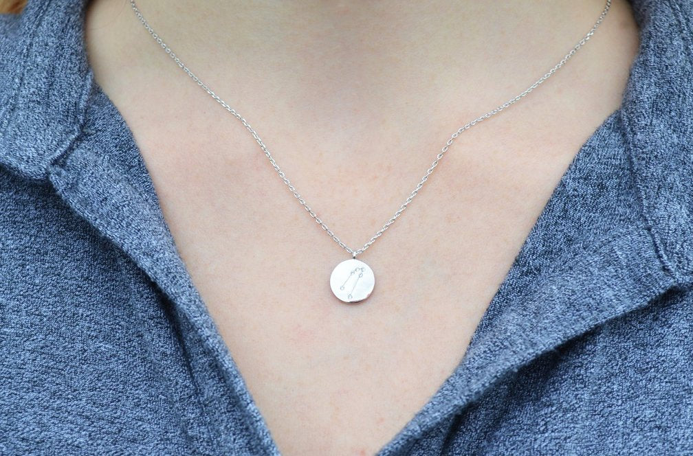 Silver Zodiac Jewelry, Zodiac Necklace, Constellation Necklace, Astrology Necklace, Gemini Necklace
