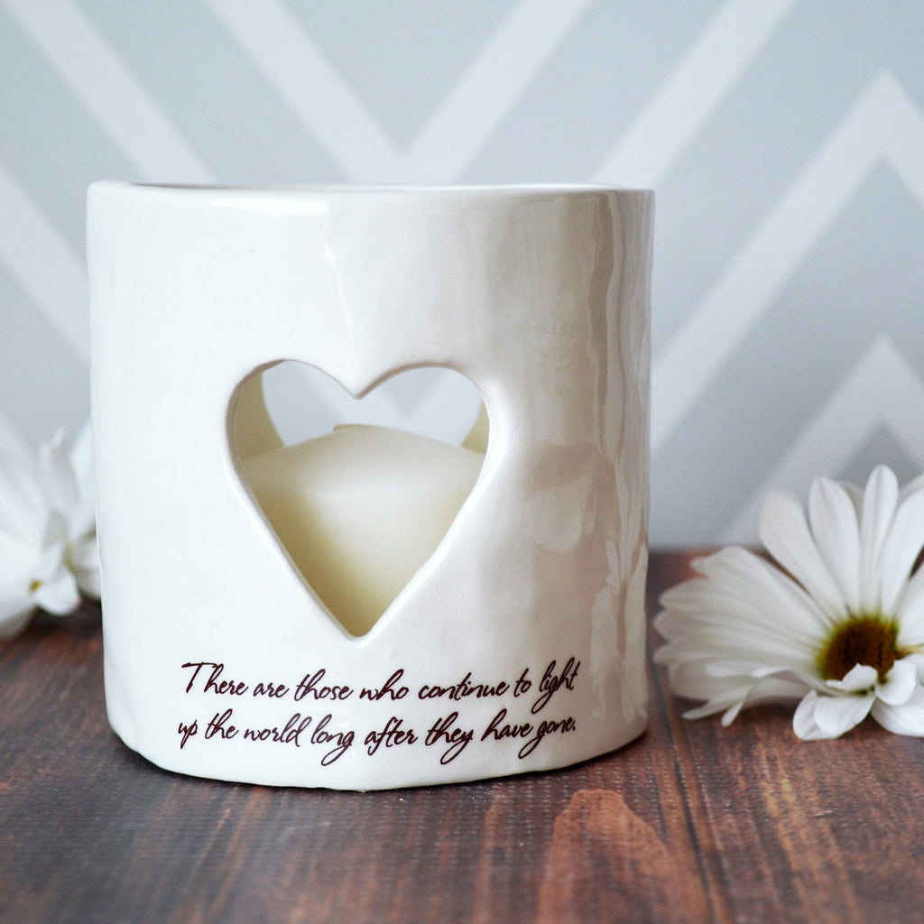 Sympathy Gift, Sympathy Heart Candle, Sympathy Votive - There are those who continue to light up the world long after they have gone
