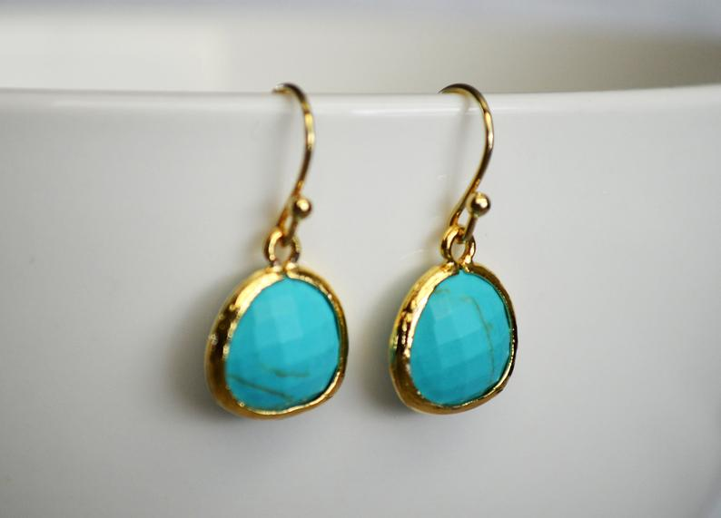 Turquoise earrings, December Birthstone Gift, December Birthstone earrings, Turquoise Jewelry Set