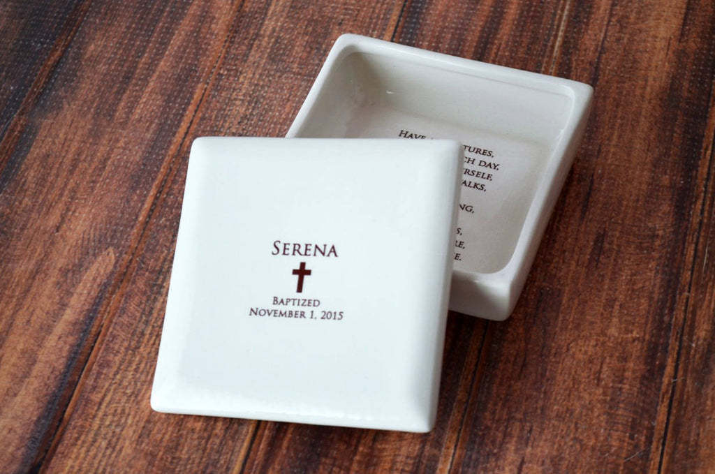 CUSTOM Listing for Angela - RUSH TWO Square LID ONLY Replacements - Christening Gift, Baptism Gift - Square Keepsake Box