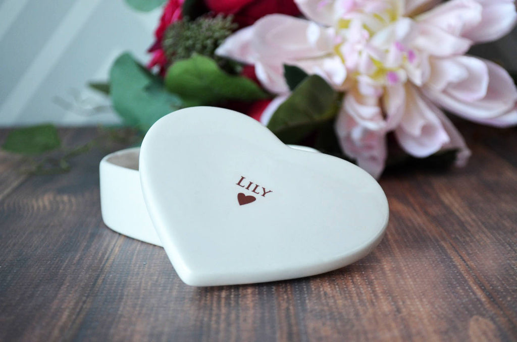 Bridesmaid Proposal - Will You Be My Bridesmaid - Bridesmaid Gift - Bridal Party Gift - Personalized Heart Keepsake Box - With Gift Box