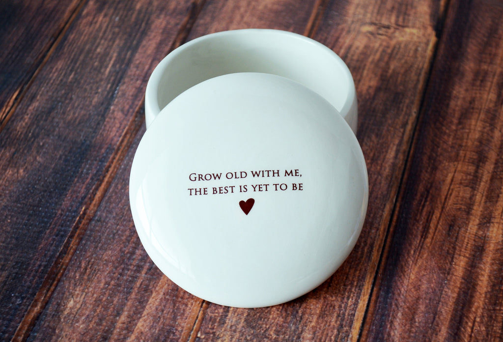 Gift for Wife, Gift To Bride from Groom, Gift for Wife on Wedding Day - Keepsake Box - Grow old with me, the best is yet to be - Gift Boxed