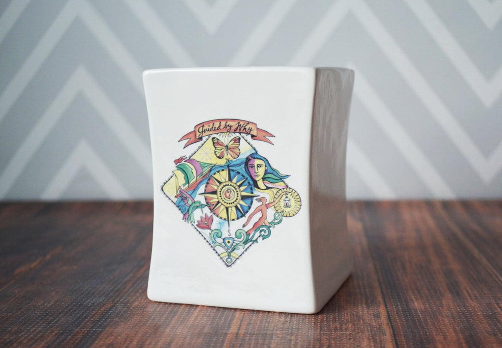 Custom Vase, Personalized Vase, Business Gifts, Corporate Gifts, Gift with Logo, Personalized Gift, Boss Gift - Square Vase