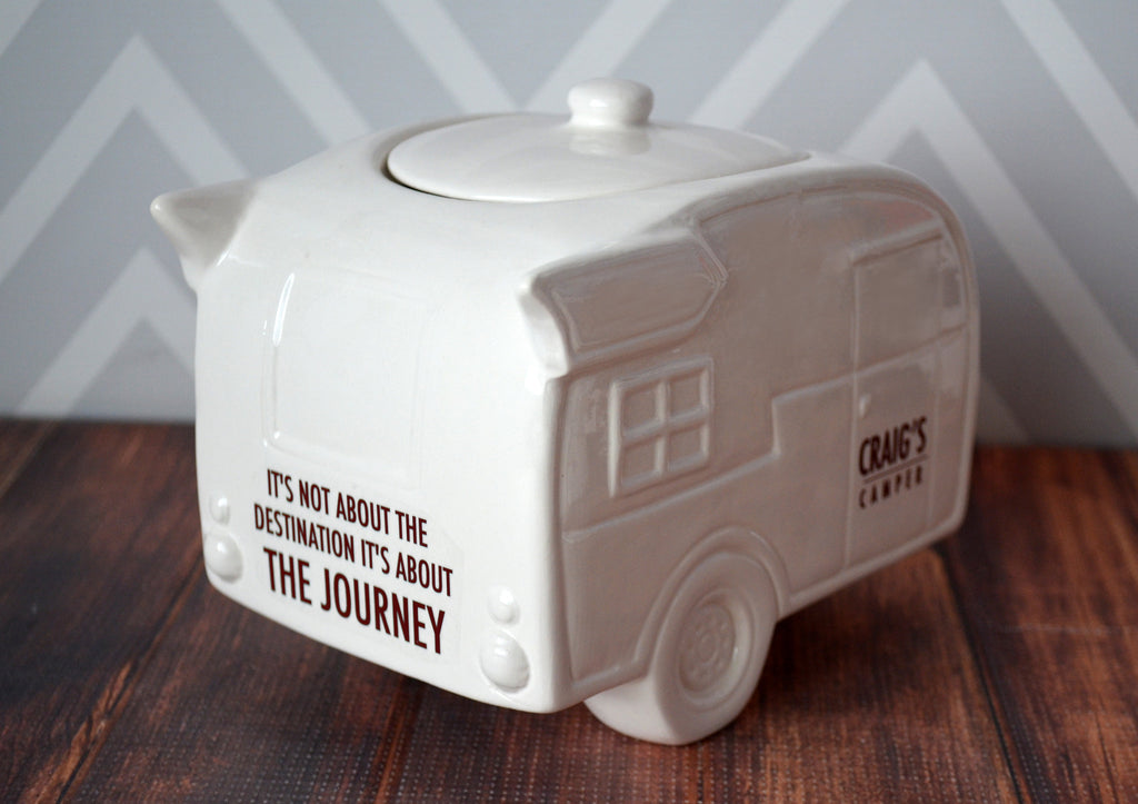 Camper Cookie Jar, Camper Bank, Camper Gift, Camper Life, Camper Gift Idea, Vintage Trailer, Camper Birthday Gift - Personalized with Names