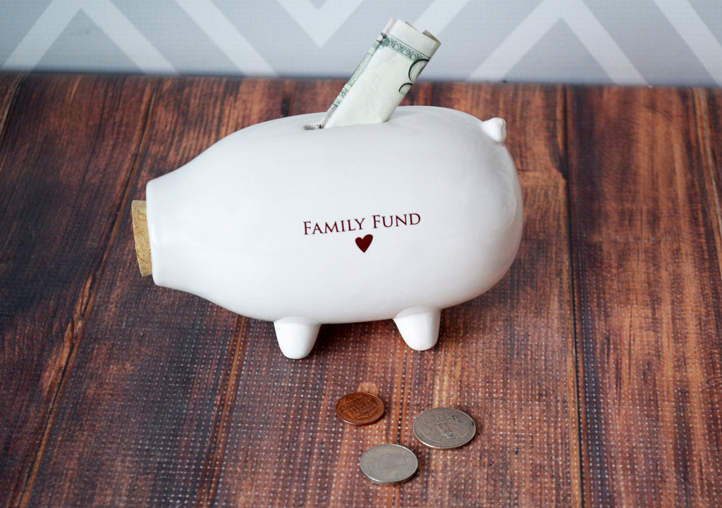 Piggy Bank, Personalized Bank, Family Gift, Savings Bank, Family Bank, Housewarming Gift, Personalized Gift, Modern Piggy Bank With Gift Box
