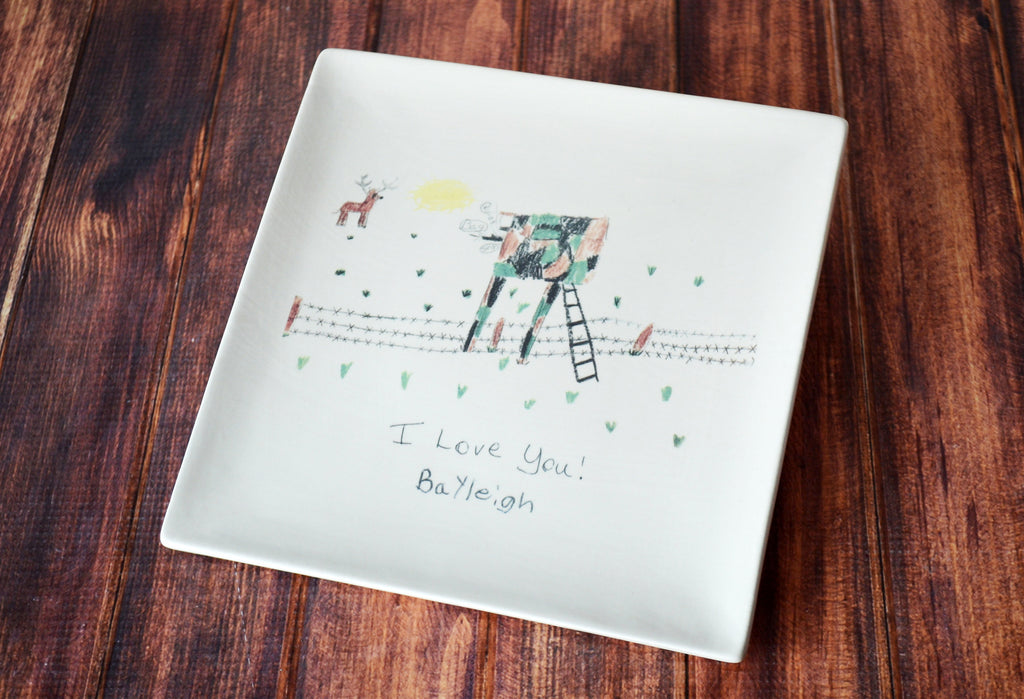 Plate with Child's Artwork in Full Color - Father's Day Gift, Mother's Day Gift