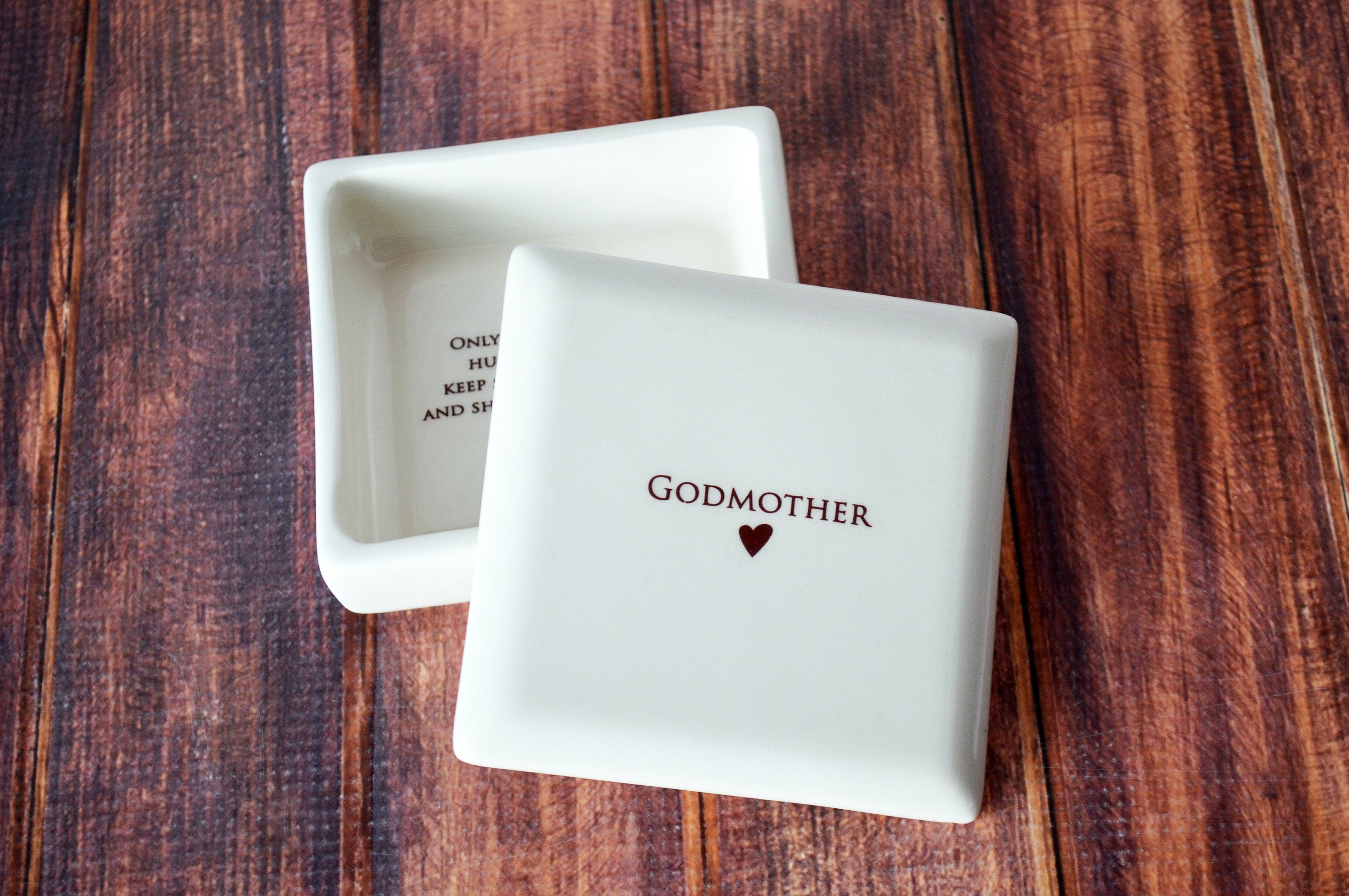 Godmother Gift Godmother Gift Idea Godmother Present Godparent Gift Godparent Gift For Baptism Godparent Gift Idea Square Keepsake Box