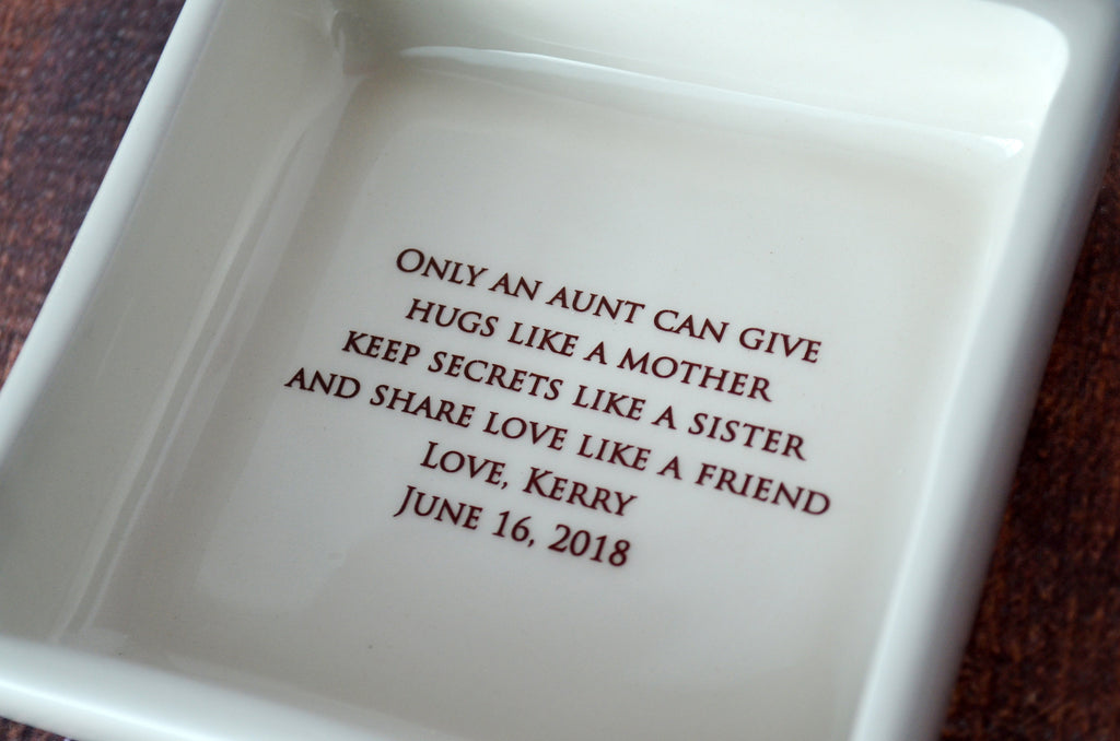Godmother Gift, Godmother Gift Idea, Godmother Present, Godparent gift, Godparent Gift for Baptism, Godparent Gift Idea - ADD CUSTOM TEXT - Square Keepsake Box