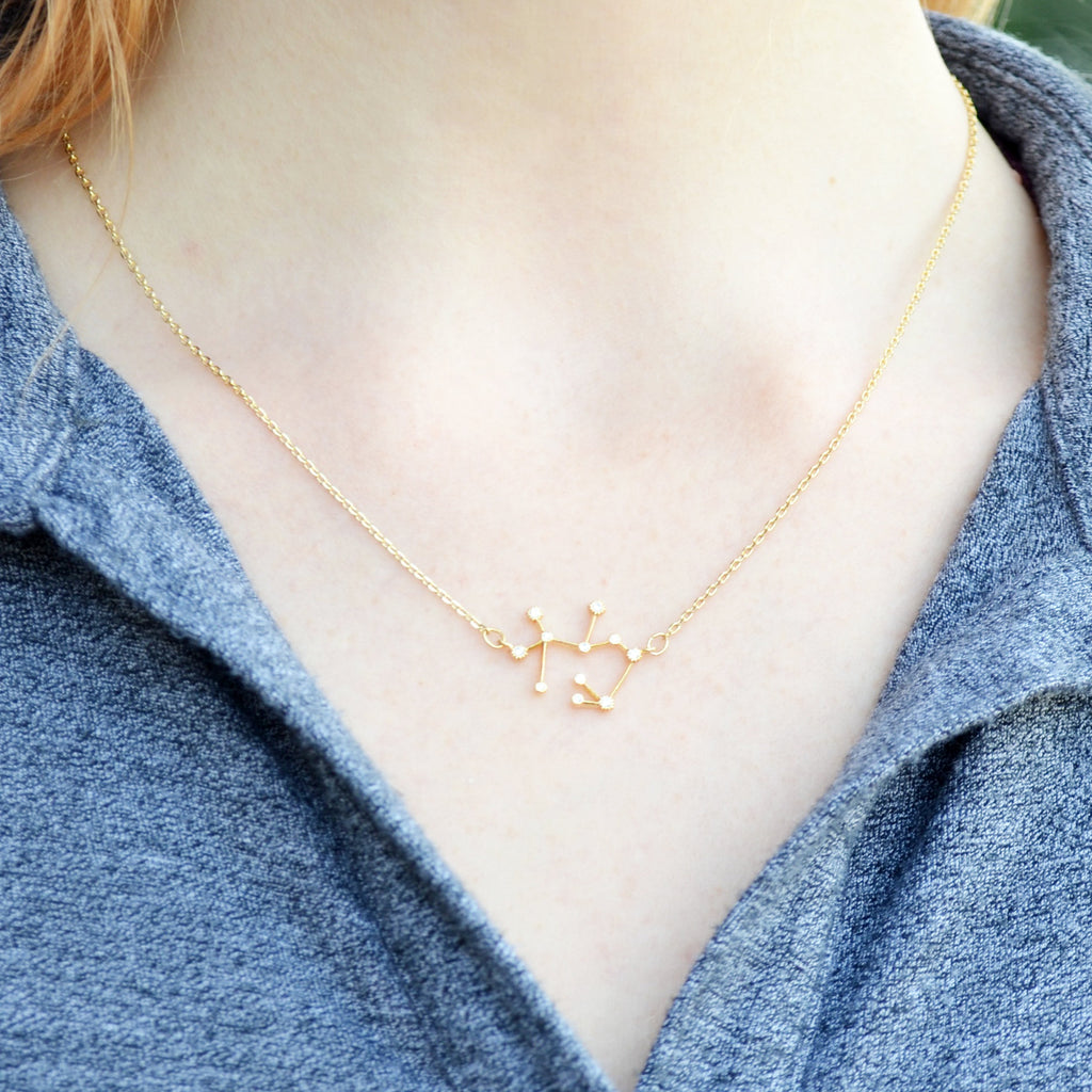 Gold Constellation Necklace, Mom Gifts, Zodiac Jewelry, Zodiac Necklace, Astrology Necklace, Horoscope Necklace, Gift for Her, - Gift Boxed