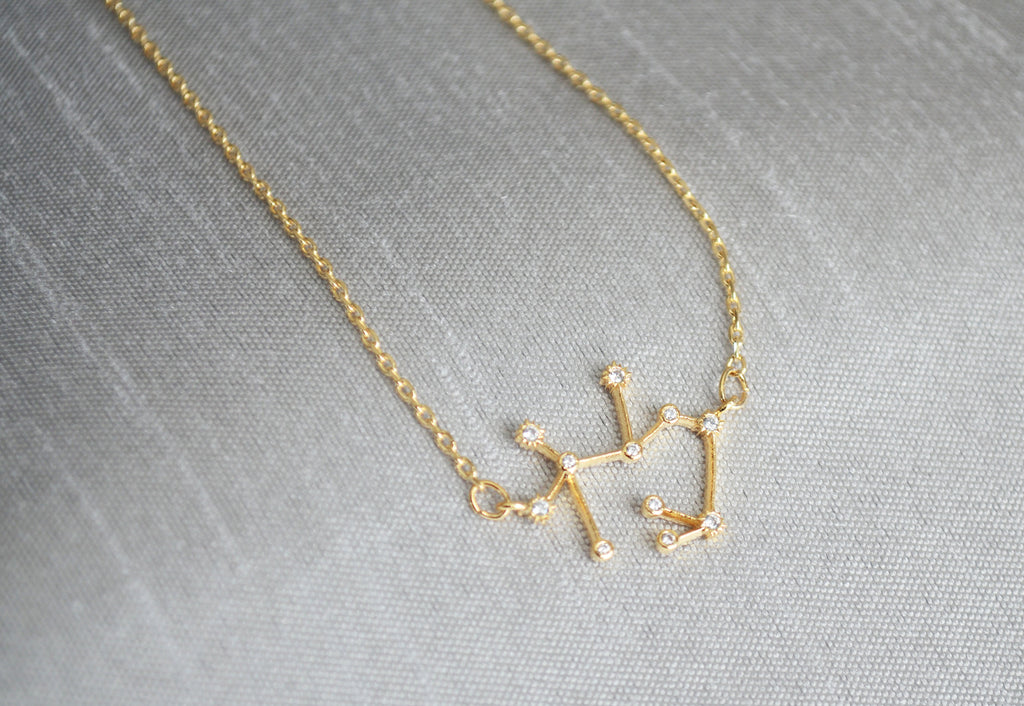 Gold Constellation Necklace, Zodiac Jewelry, Zodiac Necklace, Astrology Necklace, Horoscope Necklace
