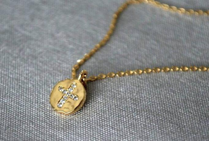Cross Necklace, Baptism Gift, First Communion Gift, Confirmation Gift, Godparent Gift, Godchild Gift, Girls Cross Necklace, Cross Pendant