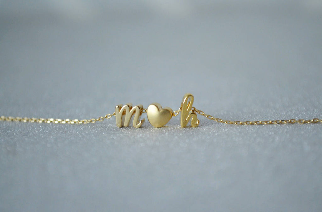 Personalized Letter Necklace, Initial Necklace - Script Letter Style - Gold or Silver - Gift Boxed
