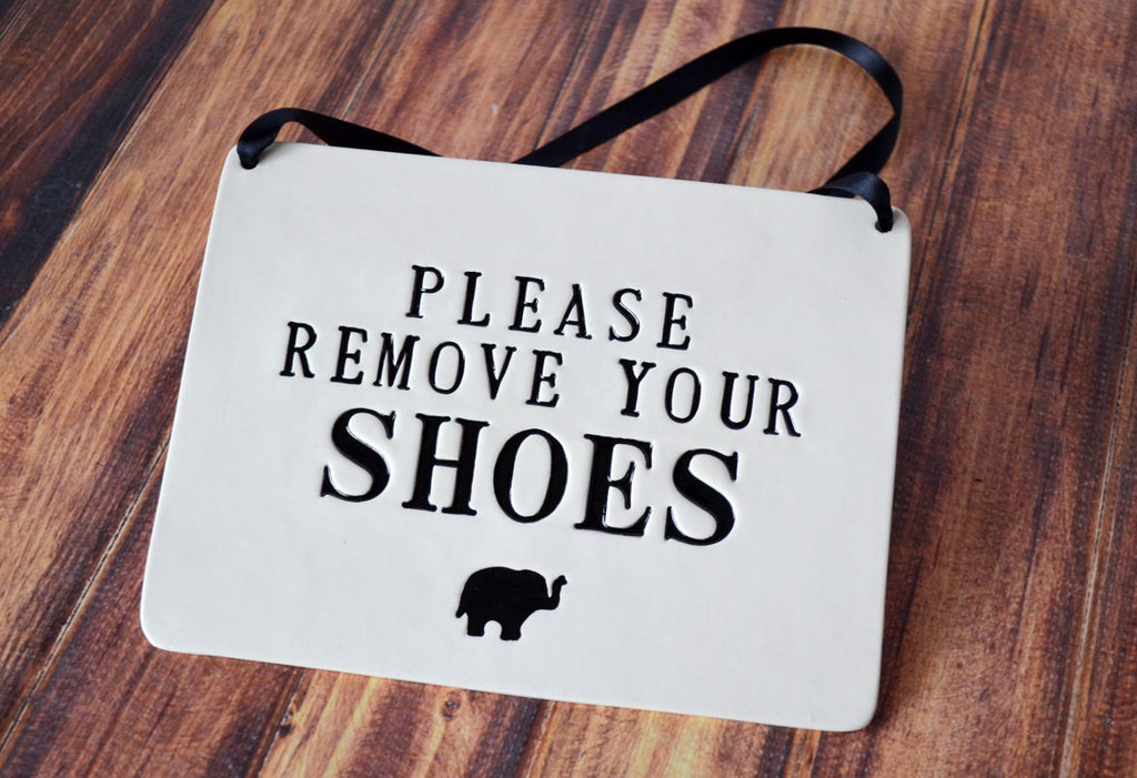 Please Remove Your Shoes Sign For Nursery Or Child S