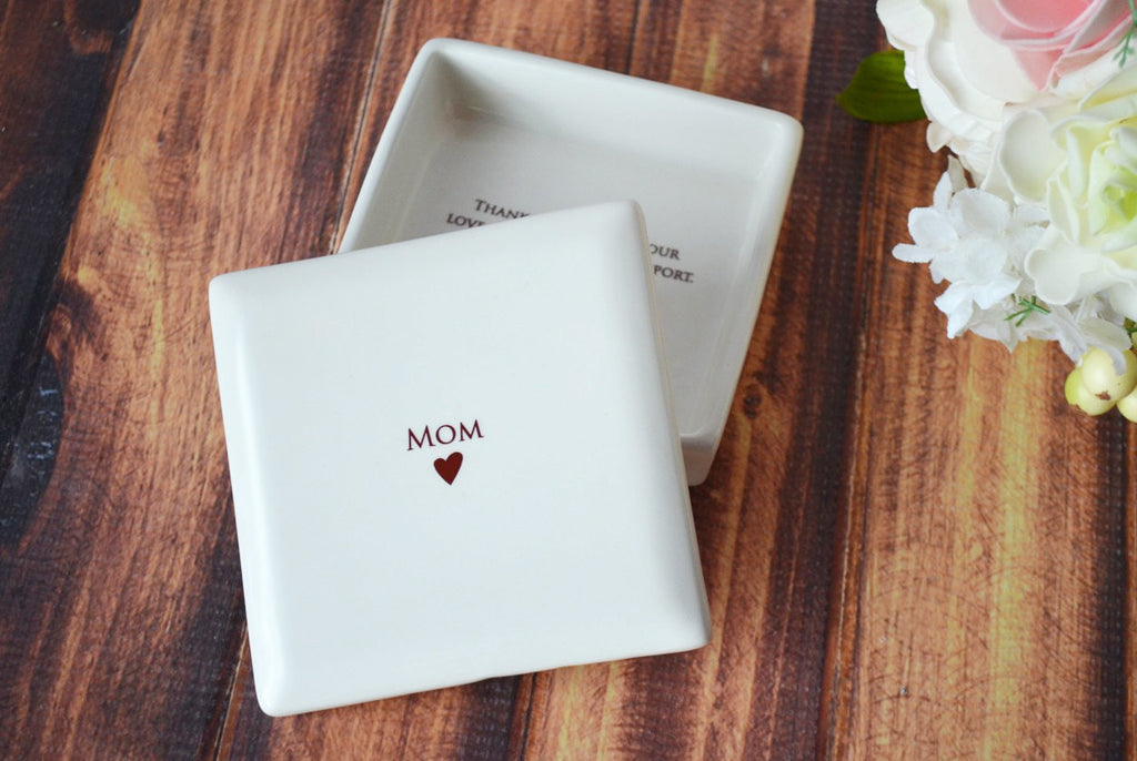 Unique Mother of the Bride Gift - Mom Square Keepsake Box - With Gift Box