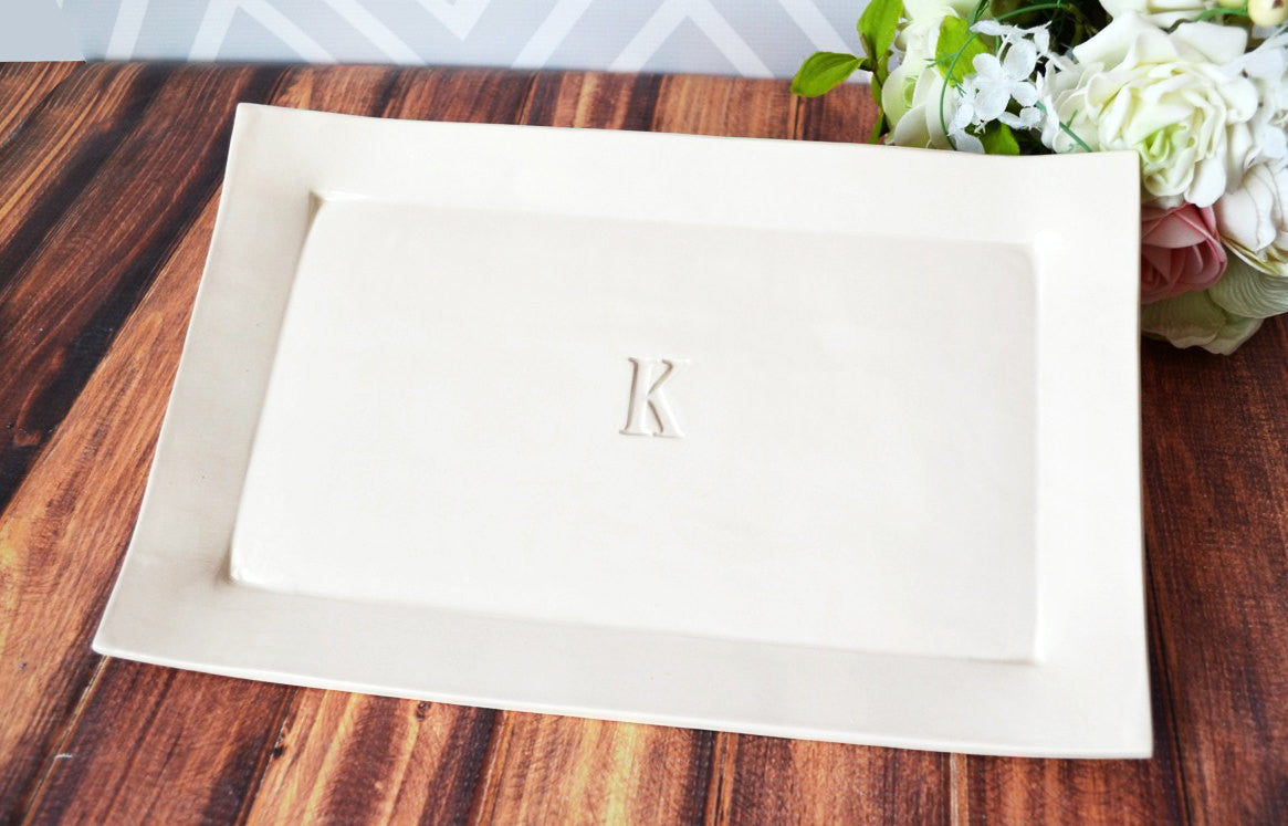 ... Parent Wedding Gift or Bridal Party Gift - Set of 3 Personalized  Rectangular Platters - Gift ... 8223db6a814e