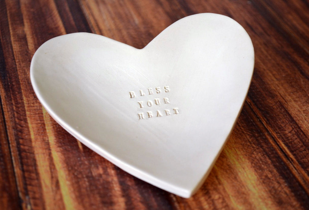Unique Gift - Bless Your Heart - Heart Bowl - SHIPS FAST - Gift Packaged