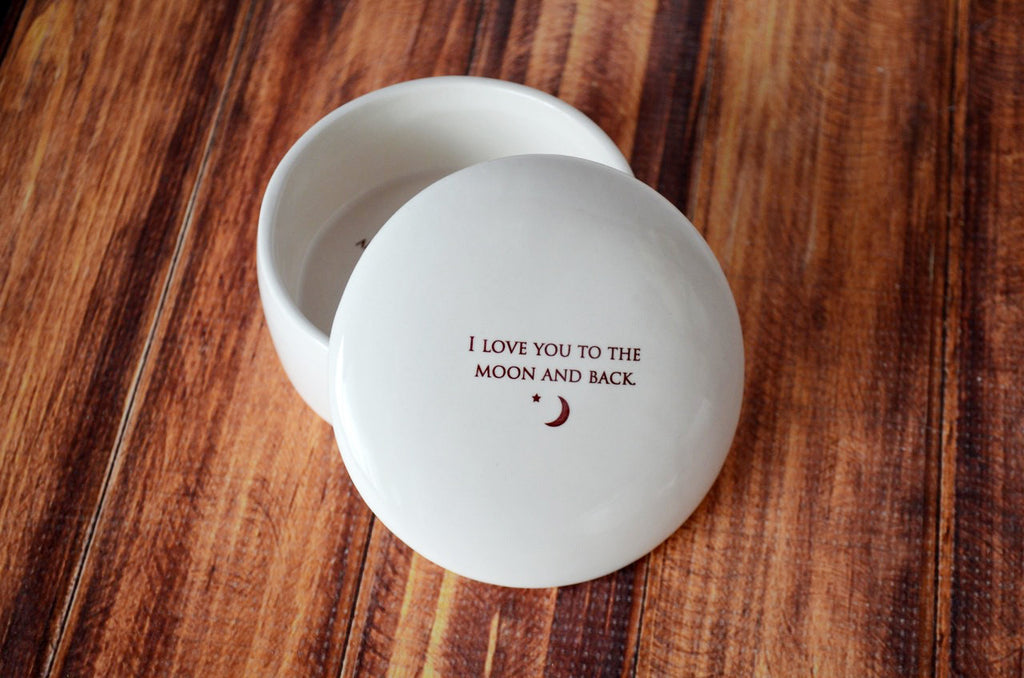 Unique Mother of the Bride Gift - Keepsake Box - I Love You To The Moon And Back - With Gift Box