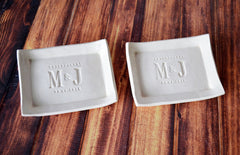 Grandparent Wedding Gift - Set of 2 - Small Platter or Tray - Gift Boxed and Ready to Give