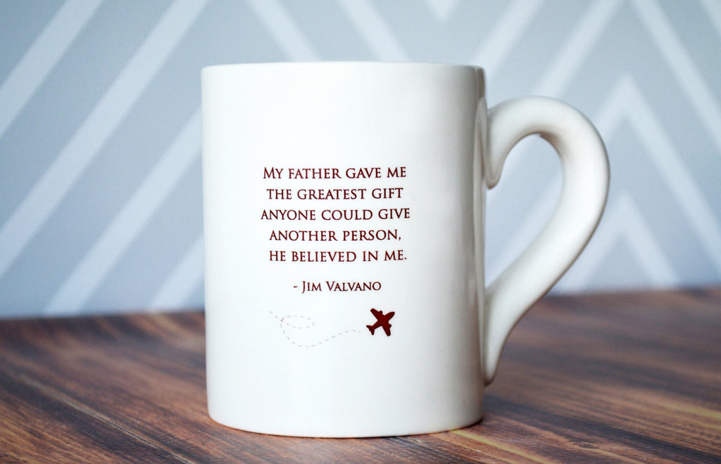 Unique Fathers Day Gift - My father gave me the greatest gift anyone could give another person, he believed in me - SHIPS FAST - Jumbo Coffee Mug