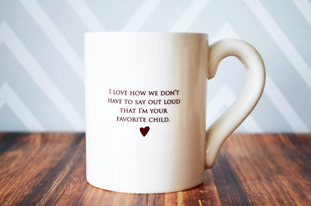 Jumbo Coffee Mug - SHIPS FAST - I Love How We Don't Have To Say Out Loud ...