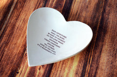 Baptism Gift or First Communion Gift - Large Heart Bowl