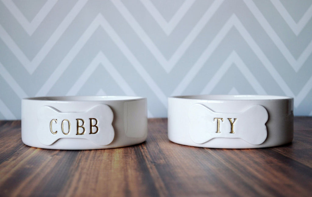 Personalized Dog Bowl - Small/Medium Size - Ceramic