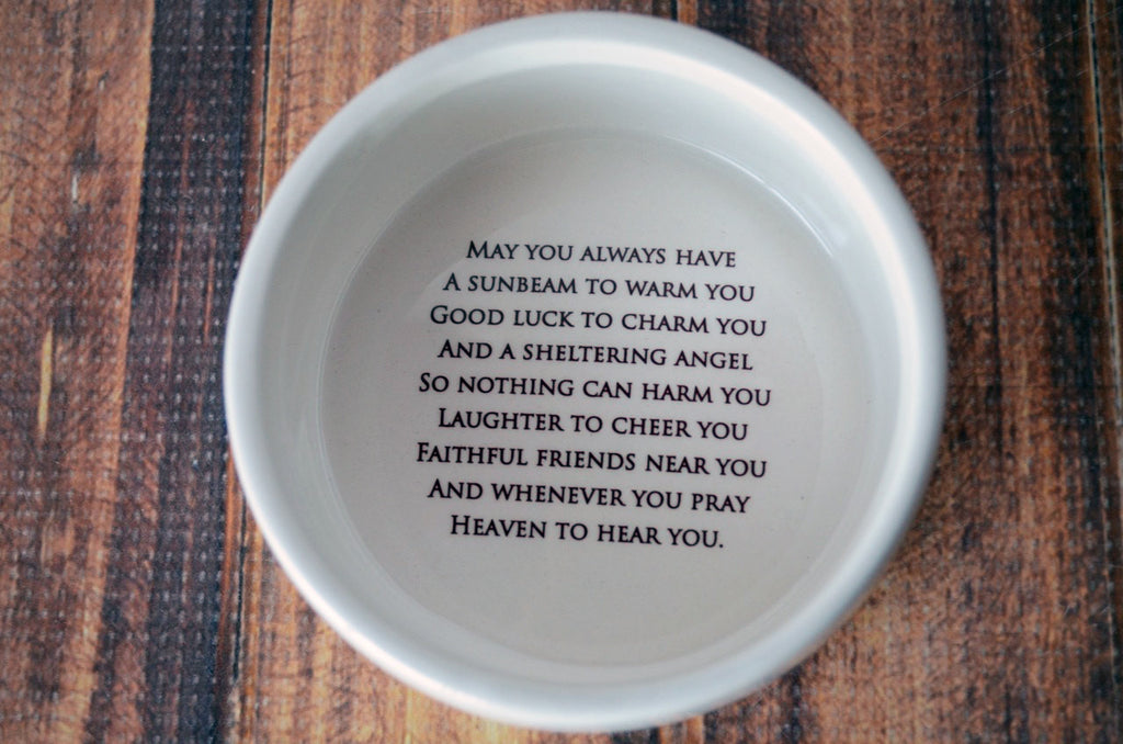 Baptism Gift or First Communion Gift - Personalized - With Irish Blessing - Round Keepsake Box