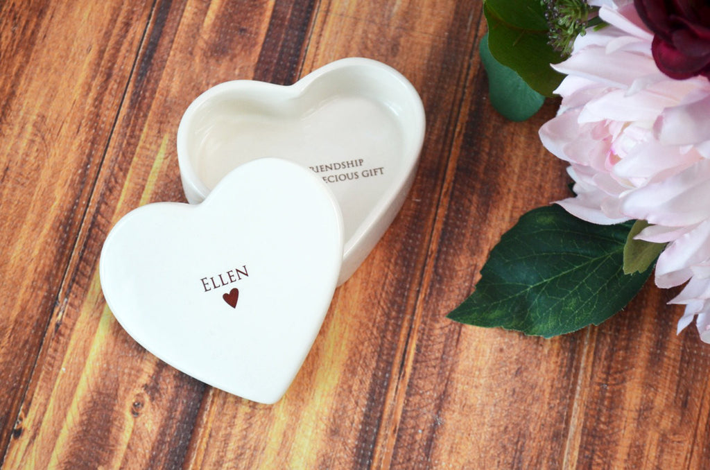 Bridesmaid Gifts - Personalized - Set of 3 Heart Shaped Keepsake Boxes