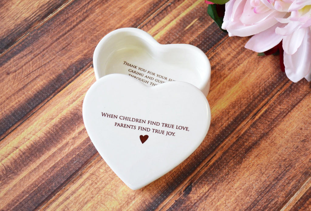 Parent Wedding Gift - When Children Find True Love, Parents Find True Joy - Heart Shaped Keepsake Box - With a Gift Box