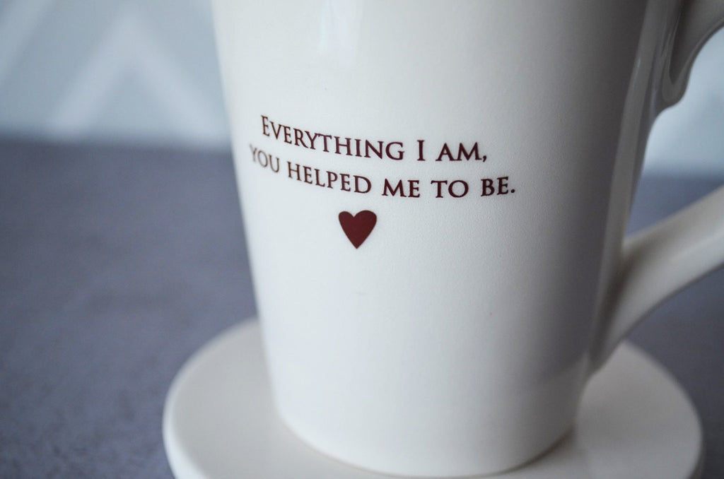 Wedding Gift for Parents - SHIPS FAST - Everything I am, You helped Me to Be - Coffee Mug