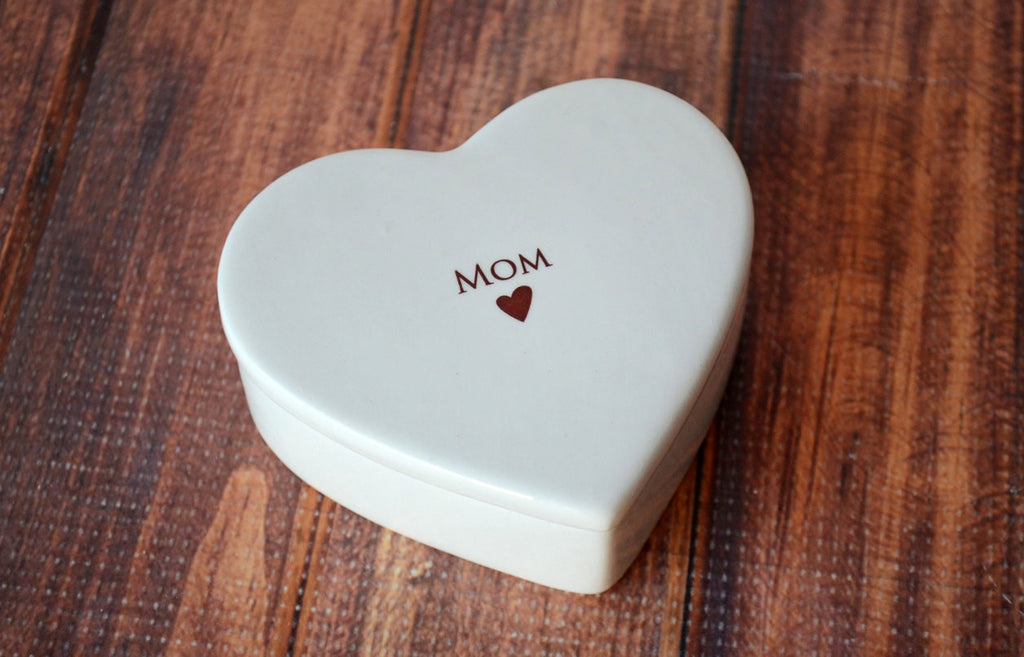 Mom Gift - Mom Heart Box- SHIPS FAST - Keepsake Box - With Gift Box