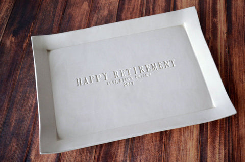 50th Anniversary Gift - Large Rectangular Platter or Guest Book Alternative - Gift boxed and Ready to Give