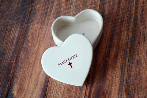 First Communion Gift - Personalized Miniature Platter - with Cross