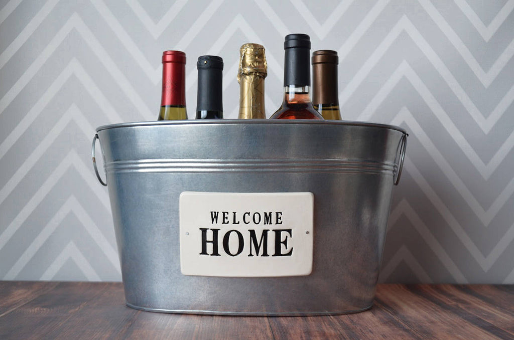 Housewarming Gift - Welcome Home - Large Wine Tub